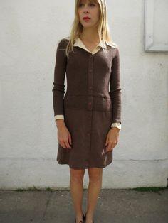 Knit Dress Mod 60s sz M by fairseason on Etsy, $48.00