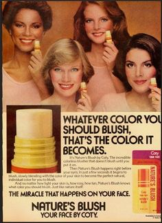 Coty Nature's Blush. This stuff was cool; would change color depending on the complexion of the wearer.