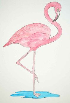 Pencil Drawing Patterns Flamingo-patterns - In honor of Flamingo Friday, here are TWO flamingo patterns for you to create your own flamingo celebration! Flamingo Painting, Flamingo Art, Flamingo Pattern, Dot Painting, Painting For Kids, Pink Flamingos, Watercolor Paintings, Flamingo Gifts, Watercolor Pencils