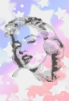 MARILYN ON WHITE STARS