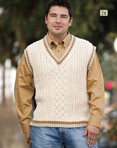 Earth-Friendly Male Vest pattern by Jodi Snyder
