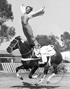 Stunt woman Donna Hall doing a Roman Stand on a galloping horse, Los Angeles, California, circa Get premium, high resolution news photos at Getty Images Vintage Cowgirl, Vintage Circus, Horse Girl, Horse Love, Old Photos, Vintage Photos, Stunt Woman, Circo Vintage, Trick Riding
