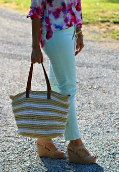 22 Days of Summer Fashion-Floral and Stripes - Grace & Beauty