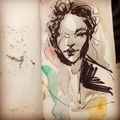 Inspired by a lovely @valentina_kova. #art #animation #cartoon #illustration #characterdesign #design #visdev #visualdevelopment #sketchbook #artistsoninstagram #conceptart #inktober #fashion
