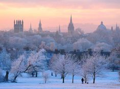 Oxford, England, in the snow