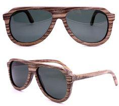 handmade aviator vintage polarized zebra wood sunglasses 1106