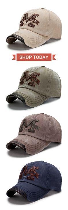 Washed Cotton Baseball Cap for Men #outdoor #fashion #mensfashion #menswear