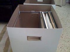 Ikea hack: caja para guardar carpetas colgantes