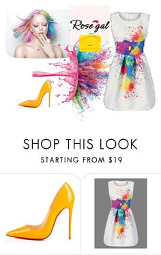 """""""Rosegal 009"""" by besirovic ❤ liked on Polyvore featuring Christian Louboutin, Givenchy and Love Moschino"""