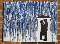 Custom Melted Crayon Art with Your Silhouette.