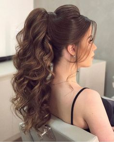 30 chic looks with elegant wedding hairstyles wedding forward 42 Braided Ponytail, Ponytail Hairstyles, Bride Hairstyles, Easy Hairstyle, Hairstyle Ideas, Pageant Hair Updo, Hair Upstyles, Elegant Wedding Hair, Wedding Hairstyles For Long Hair