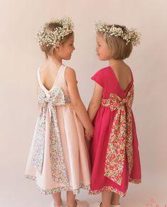 Wedding Dresses For Girls, Bridal Dresses, Girls Dresses, Bridesmaid Dresses, Wedding Girl, Wedding Dress Patterns, Girl Dress Patterns, Easy Girls Dress, Little Girl Dresses