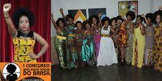 Miss Black Power Brazil contest African Diaspora, Black Power, People Around The World, Black People, Black Hair, Brazil, Sari, History, Color