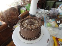 6 inch cake with chocolate buttercream