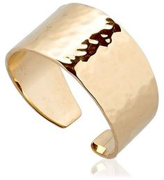 18kt Gold: 3.05gr. Width: 8mm Thickness: 0.5mm. Hammered finish may vary . Handmade