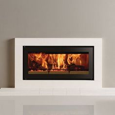 Built in wood burner - Wood Burning Fireplace Inserts Log Burner Fireplace, Wood Burning Fireplace Inserts, Wood Burning Fires, Wood Burner, Gas Fires, Sorrento, Focus Fireplaces, Dining Room Bench Seating, Fireplace Design