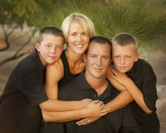 Family pose with 4 people Michele Celentano Photographic Artist | Phoenix, AZ