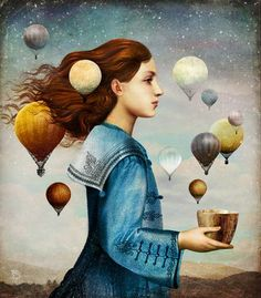 Der Zauberlehrling by Christian Schloe via Redbubble website 7 Arts, Illustrator, Magritte, Pop Surrealism, Art For Art Sake, Wassily Kandinsky, Whimsical Art, Art Plastique, Surreal Art