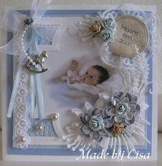 Handmade Lisa Schelvis Baby Girl Scrapbook, Baby Scrapbook Pages, Baby Boy Cards, New Baby Cards, Crate Crafts, Baby Barn, Baby Invitations, Baby Christening, Baby Album