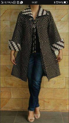 Discover recipes, home ideas, style inspiration and other ideas to try. Dress Brukat, Batik Dress, Batik Fashion, Hijab Fashion, Blouse Batik Modern, Batik Blazer, Mode Kimono, Stylish Dress Designs, Latest African Fashion Dresses