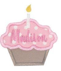 Birthday Cupcake Applique Shirt by StitchAboveTheRest on Etsy, $14.00
