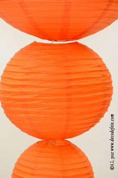 1 Lanterne ORANGE 35 cm