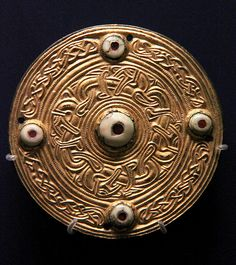 Frankish disk brooch @ Ashmolean Museum, Oxford 500-600