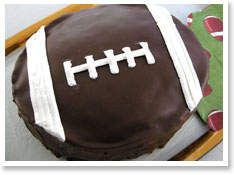 one of many football cake options