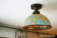 DIY ShowOff DIY {half} globe light fixture cover | April 24, 2013 | http://diyshowoff.com/2013/04/24/diy-globe-light-fixture-cover/