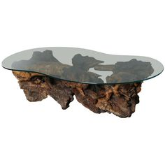 burl wood coffee table glass top - A lounge with out a coffee table is like a supermodel without lip. Coffee Table Metal Frame, Glass Top Coffee Table, Coffee Table Design, Glass Table, Vintage Coffee, Vintage Table, Coffee Table Images, Coffee Tables, Driftwood Table