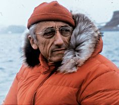 Jacques Cousteau (6/11/10 - 6/25/97) French naval officer, explorer, conservationist, filmmaker, innovator, scientist, photographer, author and researcher who studied the sea and all forms of life in water.