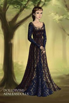 Rowena Ravenclaw ~ by love2read ~ created using the LotR Hobbit doll maker   DollDivine.com