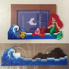 Ariel photo frame perler beads by ikasuyanto