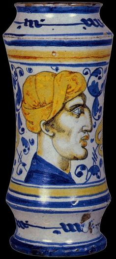 Albarello Masséot Abaquesne, 1545 Musée des Beaux-Arts, Rouen, France Ceramics…
