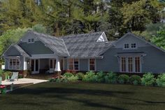 House Plan 75137, Order Code C46578 | Cottage Craftsman Farmhouse Plan with 1879 Sq. Ft., 3 Bedrooms, 2 Bathrooms, 2 Car