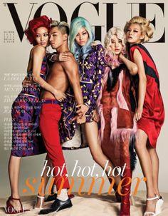 Vogue Coréia – Julho 2014 | Taeyang + Mais por Hong Jang Hyun [Capa] | Rádio Power Strike *