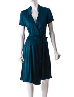 Burberry Silk Wrap Dress. Simple & lovely!