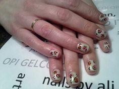 Beautiful flowers manicure