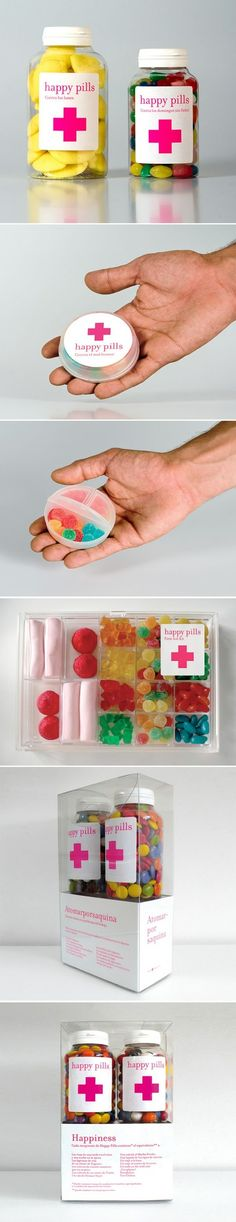 Sweets by LittleJo. Happy pills #packaging for a #HappyNewYear to all the Packaging Pick Of The Day team members : ) PD