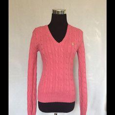 Ralph Lauren pink cotton cableknit . Ralph Lauren 100% cotton cable knit . Size small Ralph Lauren Tops Blouses