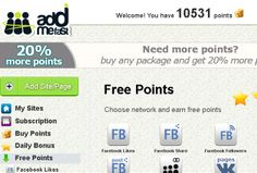 10.000 Addmefast points for sell: $5 only