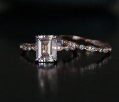 Rose Gold Morganite Ring Morganite Engagement von Twoperidotbirds