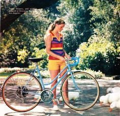 1972 Schwinn Super Sport bike for girls in baby blue Bicycles Bike Boots, 1980s Pop Culture, Motorcycle Tips, Cycle Chic, Girls World, Super Sport, Vintage Bicycles, School Fashion, Sport Bikes