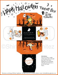 We Love to Illustrate: Quack or treat! HA! Here's a FREE downloadable Halloween Treat Box from Shirley!