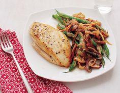 Pechugas de pollo con vegetales salteados | Adelgazar – Bajar de Peso