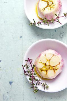 Roasted Spring Garlic