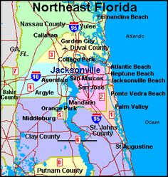 Jacksonville Florida Zip Code Map Google Search