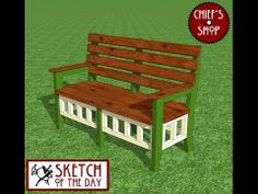 Chief's Shop Sketch of the Day: Garden Bench - YouTube