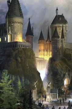 Technically it's not in Europe, but in the books, it is! <3 Hogwarts!