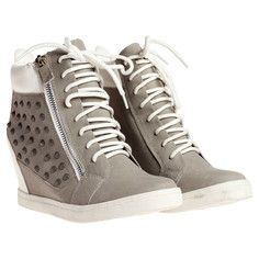 Dreya Sneaker Wedge Taupe, $45, now featured on Fab.